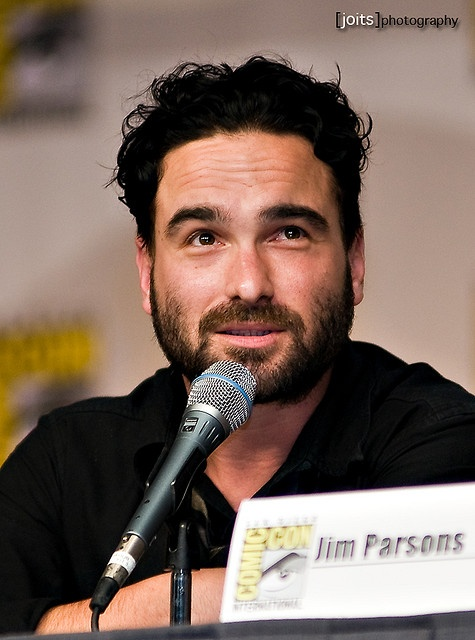 Johnny Galecki. The beard is very sexy!