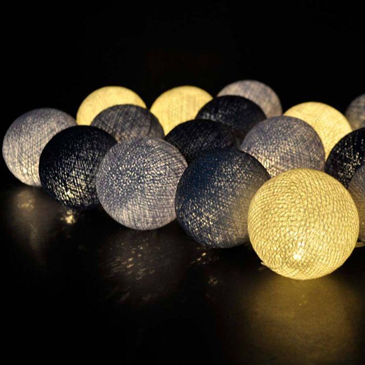 Aliexpress.com: Comprar 20 de béisbol clásico azulado gris bola de algodón lámparas en tailandia de vacaciones luces decorar la sala de estar disponible, CE / GS / SAA / UL de bola de cristal de la lámpara fiable proveedores en M&J Holiday Decorations Co.,Ltd