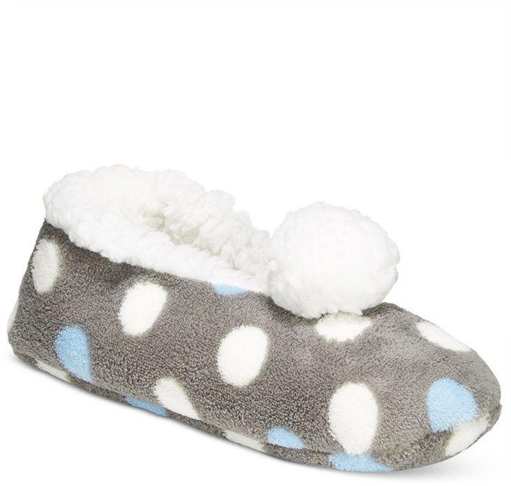 PJ Couture Women's Dot-Print Slipper Socks