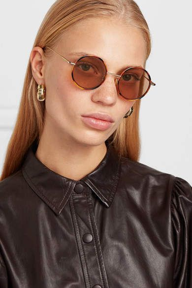 75cf21bf8 Acne Studios - Scientist Round-frame Tortoiseshell Acetate And Gold-tone  Sunglasses - Brown