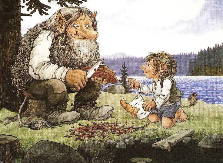 все иллюстрации к норвежским сказкам только шикарный