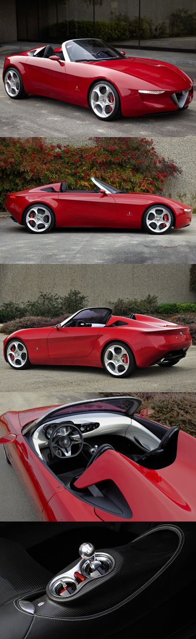 ♂ Alfa Romeo 2uettottanta concept car by Pininfarina ❤ www.healthylivingmd.vemma.com ❤Some of the concept cars that have been made by the Italian Alfa Romeo company. Best Car Ever. Love Red heart and soul, best sport jot car. Sexy,