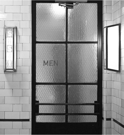 "I think it would be cool to have doors kind of like this in a master suite, to the bathroom, just not saying ""men.""  Haha."