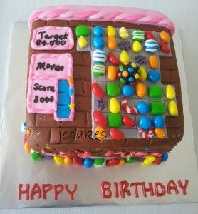 candy crush bithday cake