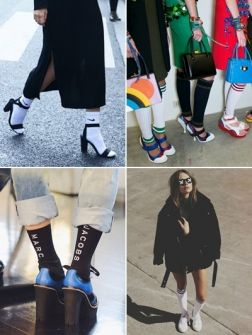 Trend-alert! Sportsokken in gehakt schoeisel én in je (gezondheids)sandaal: het mag. Sterker nog: volgens Miuccia Prada is dát wat we dragen deze zomer, en ook Mary-Kate en Ashley Olsen zijn fan. Doe hier inspiratie op en shop meteen je eigen paar scheidsrechterkousen of badstoffen sokken van Nike. Let wel (en dan kijken we naar jou, Rita Ora): de truc zit 'm in de manier waarop je het geheel combineert.