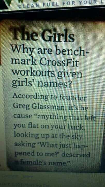 I wondered about this... crossfit