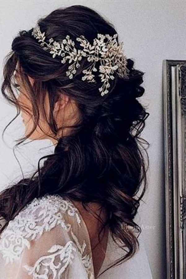 Beauty Hair Accessories | Hairstyle Long hair Braid Bride Headpiece Hair accessory | #Bridal accessory #Long hair #Fashion accessory #Black hair #Forehead #Woman #Braid #Bride #Bun #Barrette #Hairpin #Wedding #Fashion #Beauty #Hair Accessories
