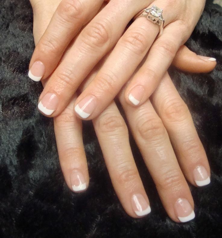 CND Acrylic French Manicure www.thenaillady.com
