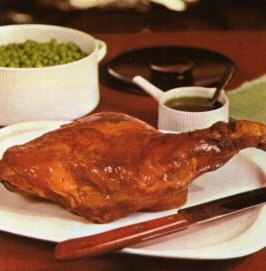 Colonial Goose.  A boned leg of lamb stuffed with apricots, onion and herbs.  You want winter food? This is it.