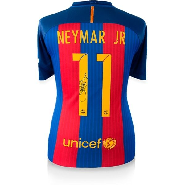 Neymar Jr. Signed Barcelona 2016-17 Home Jersey