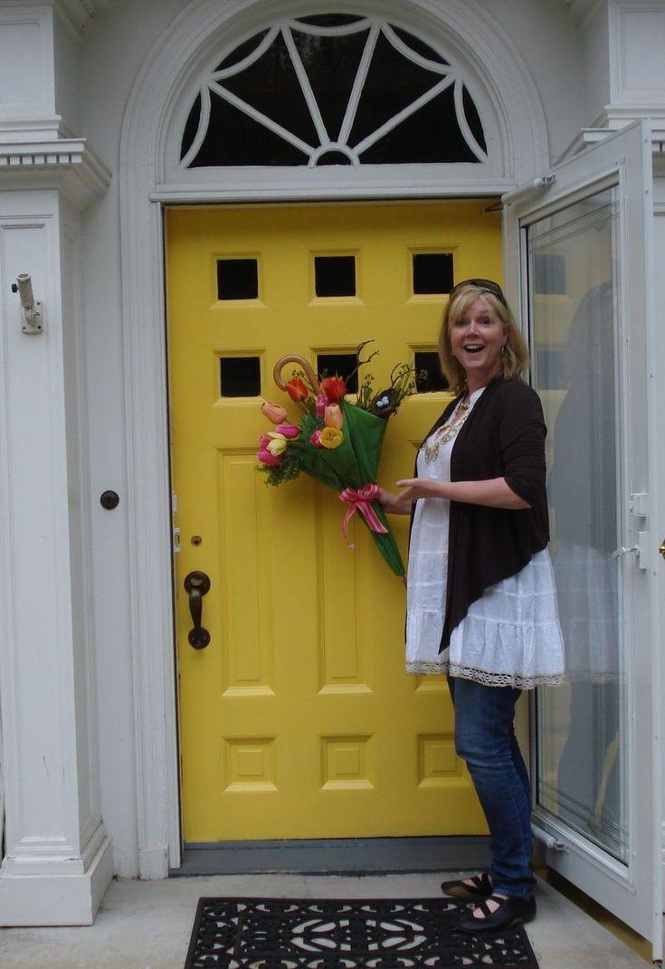 By real simple benjamin moore yellow rain coat paint for Front door yellow paint