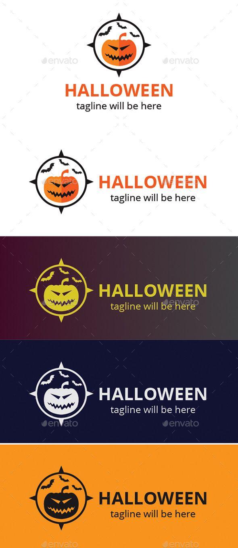 Halloween Logo para tematizar las actividades de tu empresa o negocio. #halloween #calabazas #logotipos #insignias