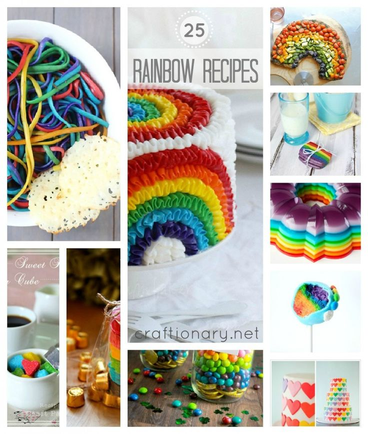 25 Rainbow Recipes for St. Patrick's Day...great recipes and ideas here!