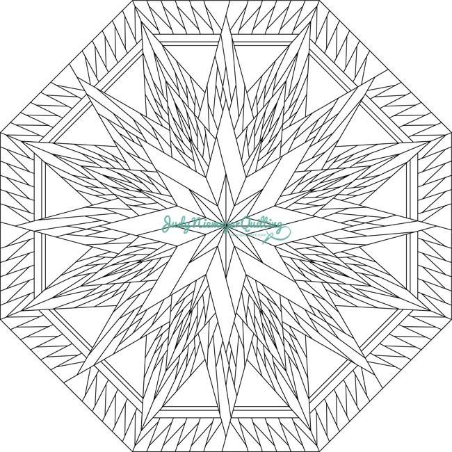 Line Art Quilt Pattern : Feathered snowflake line drawing quiltworx made by
