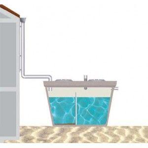 Deposito Recogida Aguas Pluviales 1.000 Litros con desarenador
