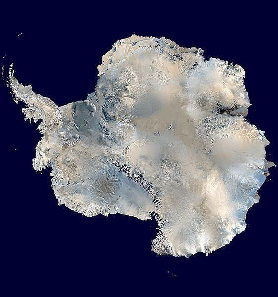 Antarctica, here's a beautiful and rare full view of the seventh continent as seen from space.