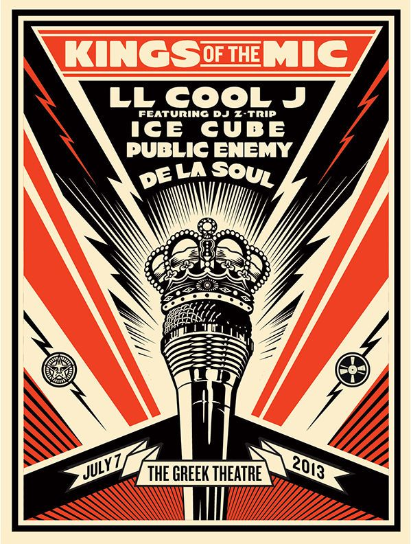 LITHOGRAPHIE OBEY SHEPARD FAIREY Kings of the Mic