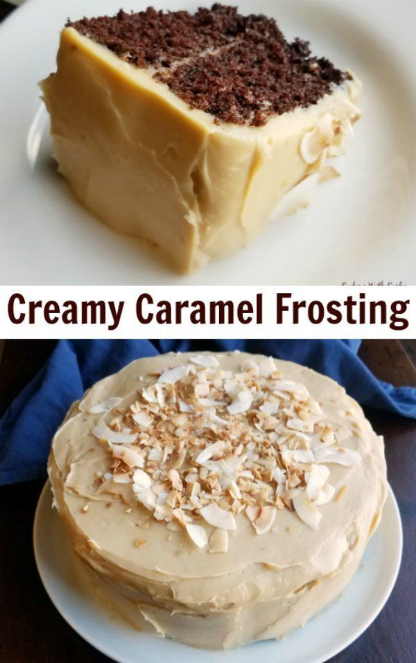 Caramel Condensed Creamy Frosting Milk Sweetened This Creamy Caramel Frosting Comes Together Rea In 2020 Condensed Milk Recipes Savoury Cake Dessert Recipes Easy
