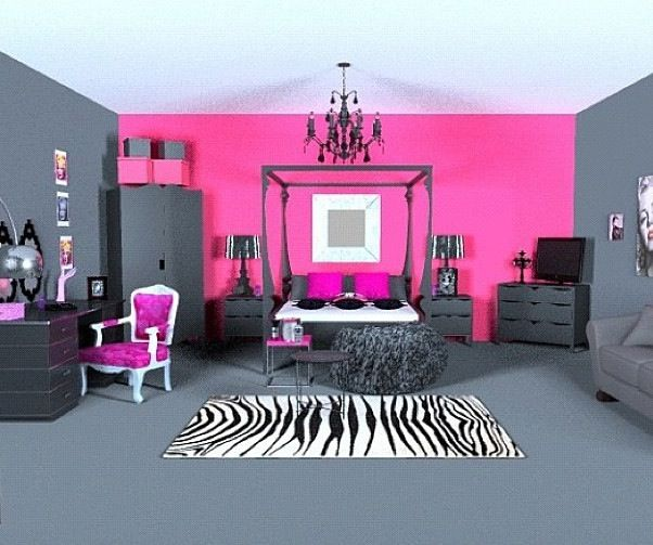 Hot Pink And Grey Living Room   Conceptstructuresllc.com