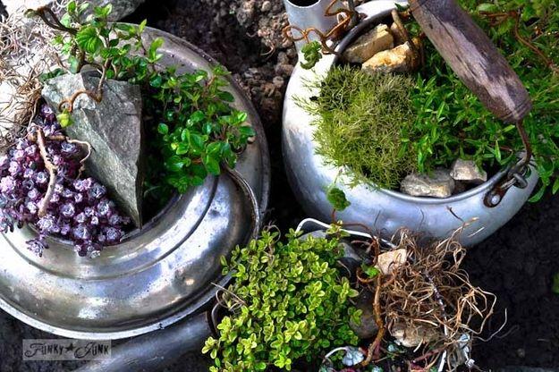 8. Plant a kettle | Community Post: 17 Charming Garden Art DIYs