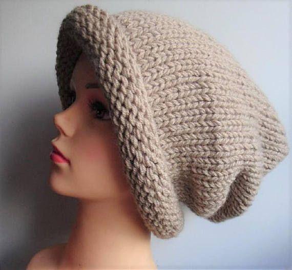 Super Slouchy Beanie Big Baggy Hat Winter Adult Teen Fashion
