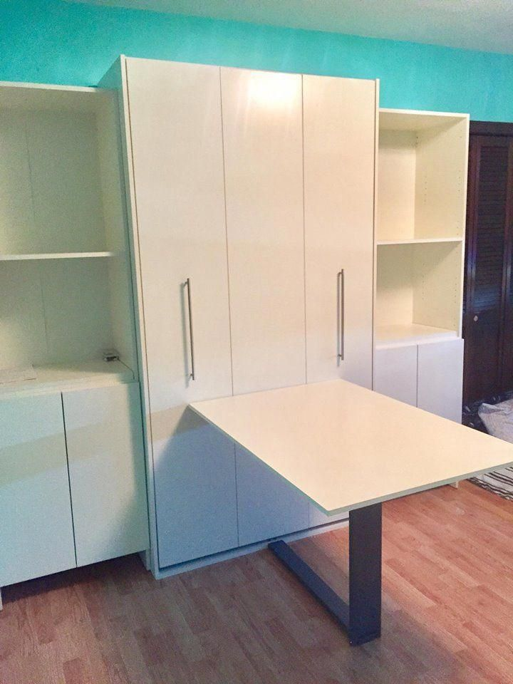 Ny Murphy Bed And Table Or Desk Installation Murphybeddesk Murphy Bed Desk Murphy Bed Plans Murphy Bed Diy