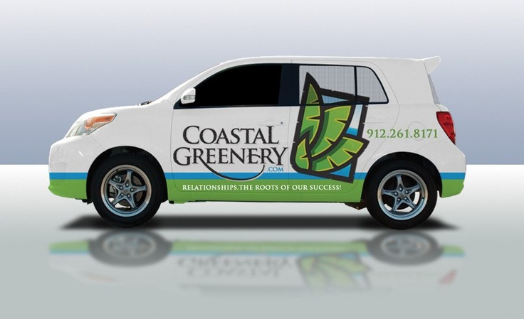 After design the logo for this landscape company in Georgia, we then designed the layout for this Scion.