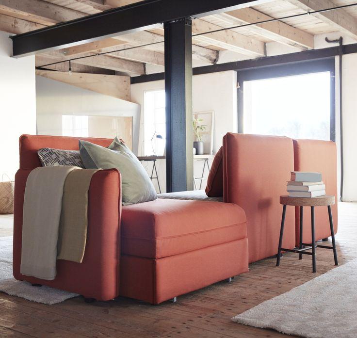 VALLENTUNA 3-zitsbank   #IKEA #IKEAnl #combinaties #modulair #interieur #bank #opbergen #oranje #smaak #styling #inspiratie