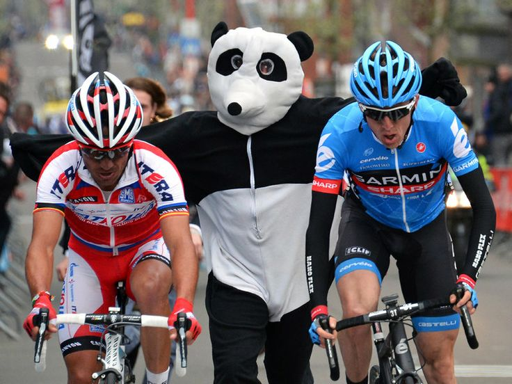 #Liege Baston Liege 2013 The sight of a man dressed as a panda chasing Joaquim Rodriguez and Dan Martin during Liege-Bastogne-Liege was unfortgettable