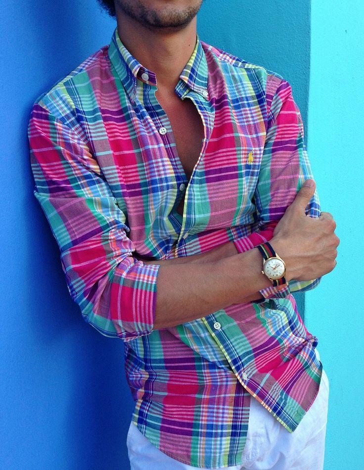 Polo Ralph Lauren | Plaid Shirt | Mens Fashion | Menswear | Casual Outfit for Spring/Summer | Moda Masculina para Primavera/Verano | Shop at  http://2015ralphlauren.tumblr.com/