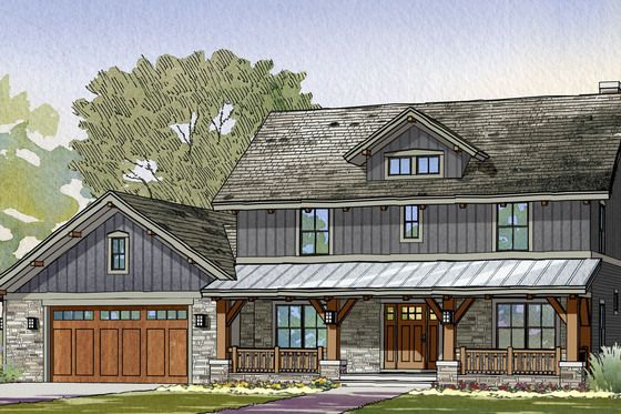 Best 25 craftsman farmhouse ideas on pinterest for Houseplans com craftsman