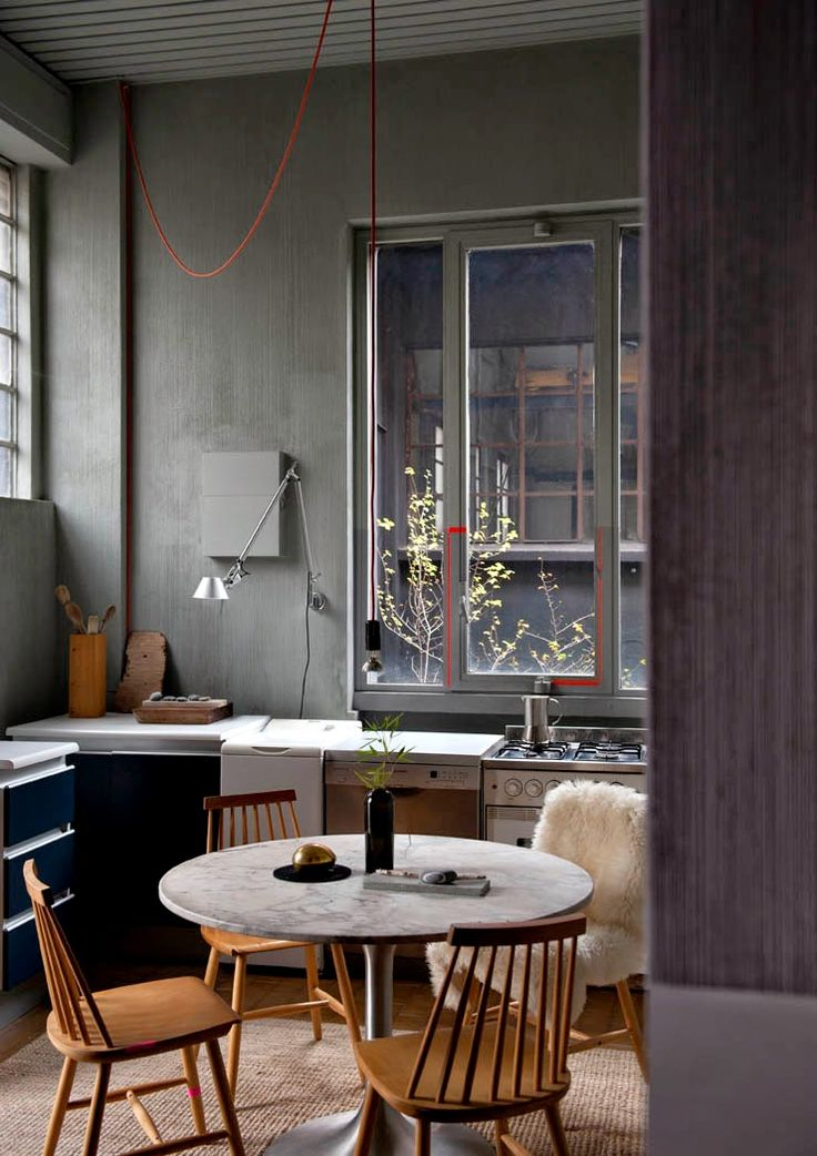 kitchen in the home and workspace of stefanie barth and andrea tognon