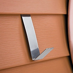 Vinyl Siding Hangers -- a great idea for hanging items on your house without damaging the siding! I'm going to get some. Note that one buyer said it does not work on Dutch lap siding.