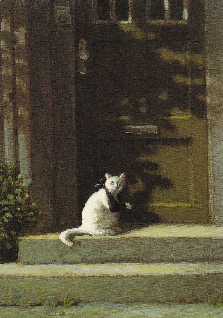 Michael Sowa kitty with a sling