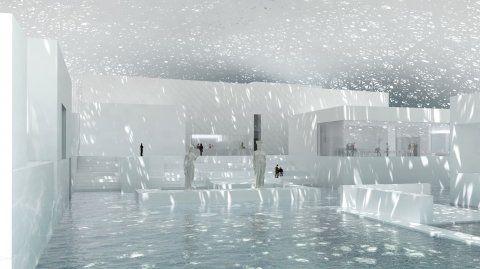 El Louvre estará compuesto por amplias galerías y patios.
