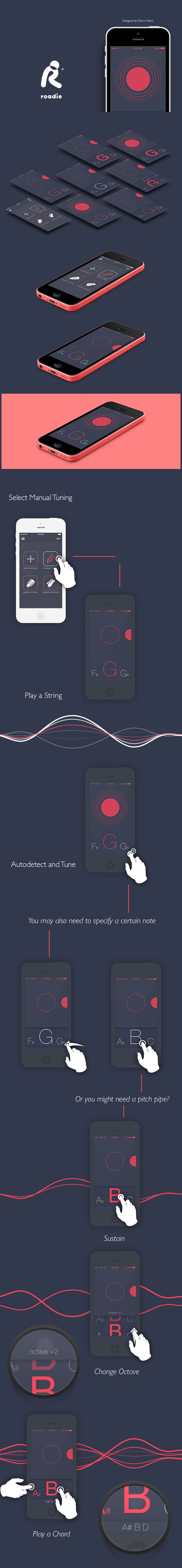 Roadie Chromatic Tuner on Behance
