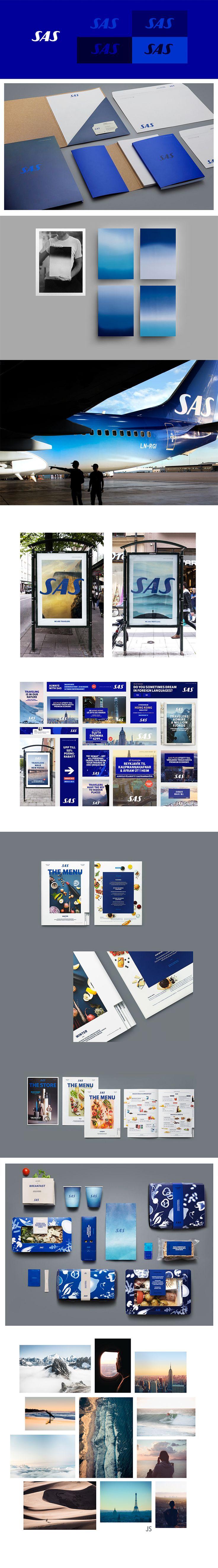 SAS Scandinavian Airlines 'True Travelers' Brand Redesign by Bold #branding #design #amazing