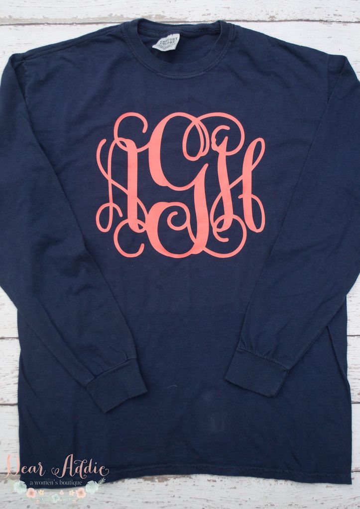 17 best ideas about monogram clothing on pinterest for Initials on dress shirts