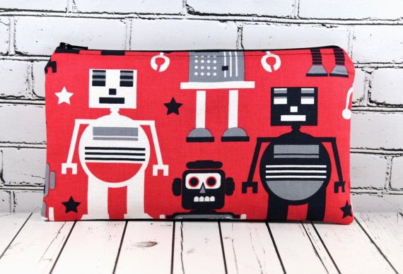 Hey, I found this really awesome Etsy listing at https://www.etsy.com/listing/194171158/robot-pencil-case-boys-pencil-case