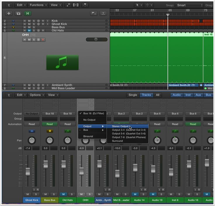 Creating DJ Filter Effects in Logic Pro X: Step-by-step tutorial; Details.
