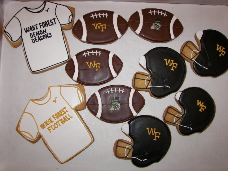 Wake Forest Football Cookies