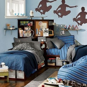 corner twin beds pottery barn teenage boy