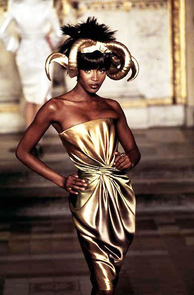 Naomi Campbell/ Givenchy by Alexander McQueen Haute Couture 1997