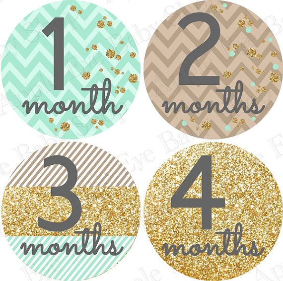 Just Born Baby Gift Ideas : Ideas about baby month stickers on