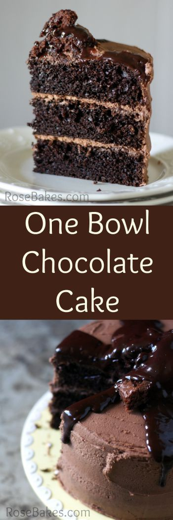 One Bowl Chocolate Cake From Scratch