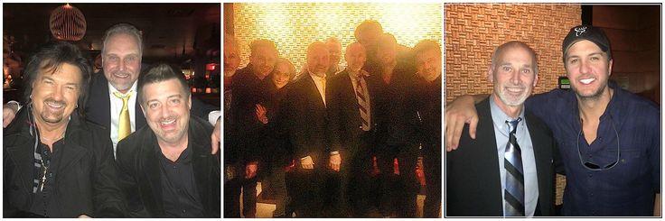 Left: With Bill Morris and Jeff Ferguson Center: With Luke Bryan Right: Ken Marshall with Luke Bryan