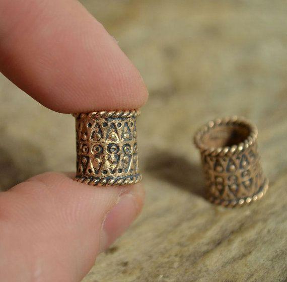 VIKING BEARD RING Bronze Bead Accessory by WulflundJewelry on Etsy