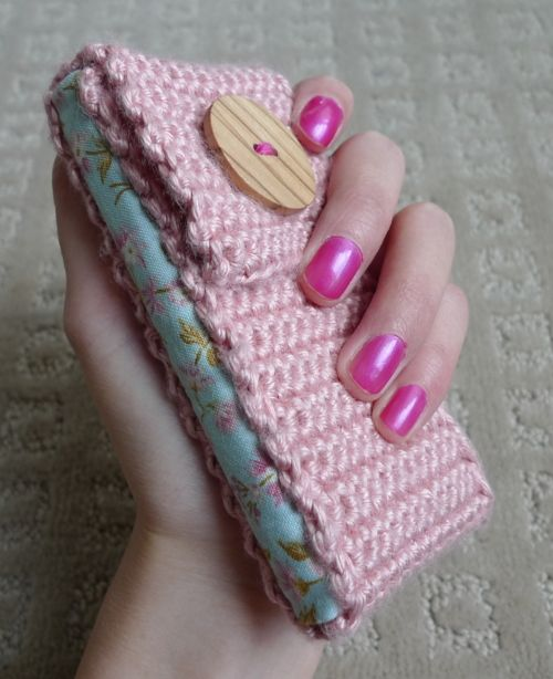 Crochet iPhone Cozy....I failed at sewing the fabric :P