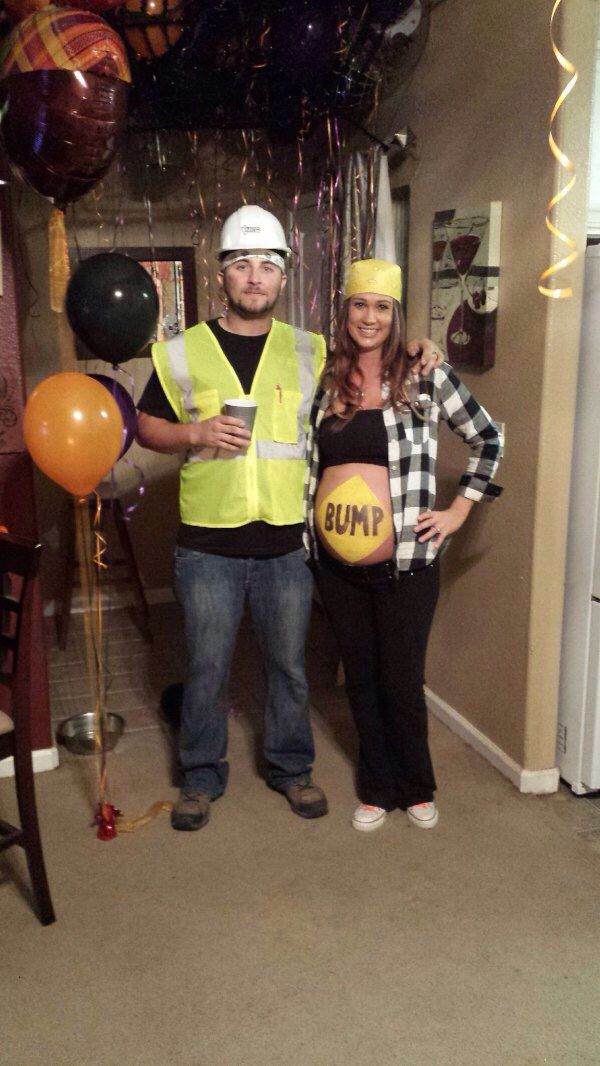 Pregnancy Couples Costume Construction Worker And Speed