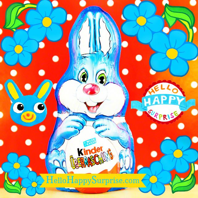 Adorable Kinder Surprise Easter Bunny with a Surprise Egg inside :)www.HelloHappySurprise.com